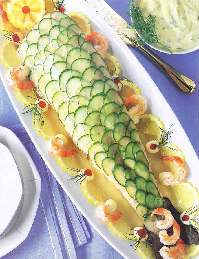 Łosoś w galarecie z majonezem