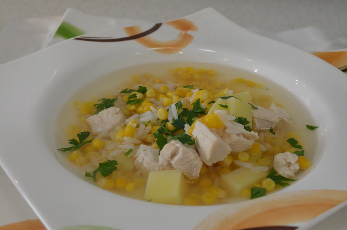 Zupa kukurydziana z ziemniakami i ryżem