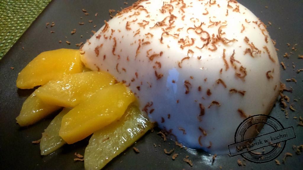 Deser Panna cotta z mango