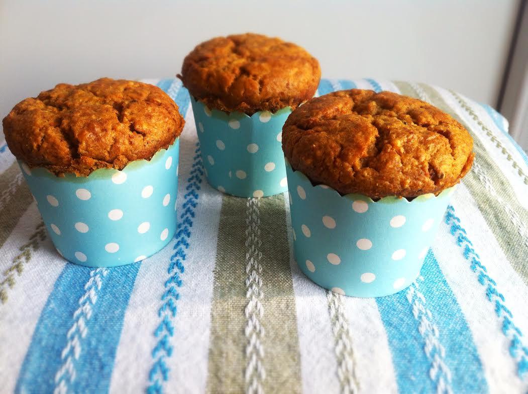 Wegańskie muffiny z marchewką