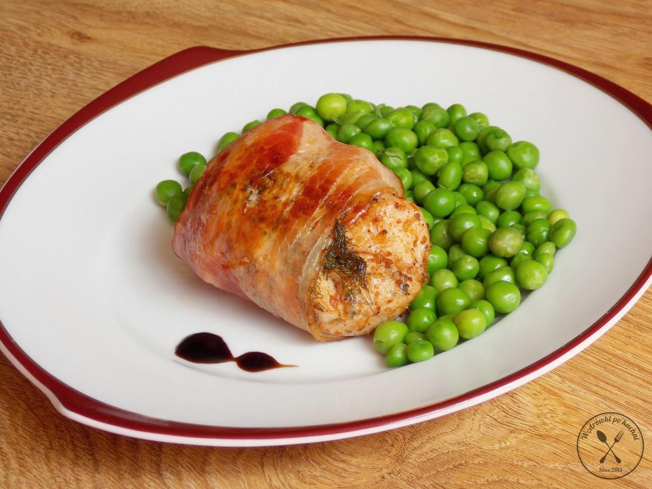 Aromatyczny kurczak z boczkiem