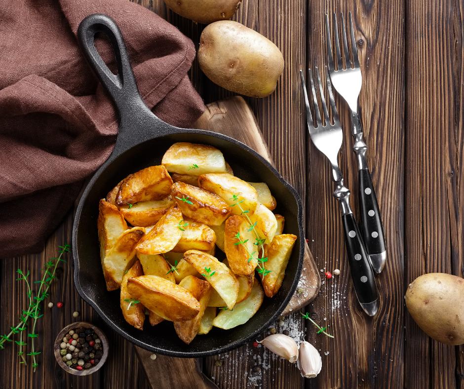 Pieczone młode ziemniaki z ziołami
